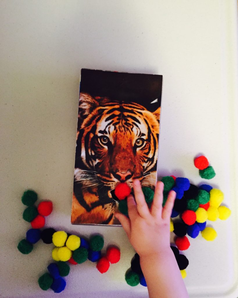 Tiger sorting activity for toddlers