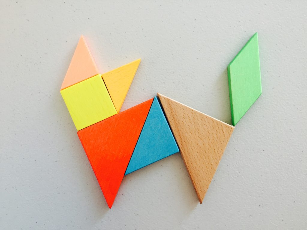 Tangram cat, shichida lesson plan, shichida method, activities for toddlers