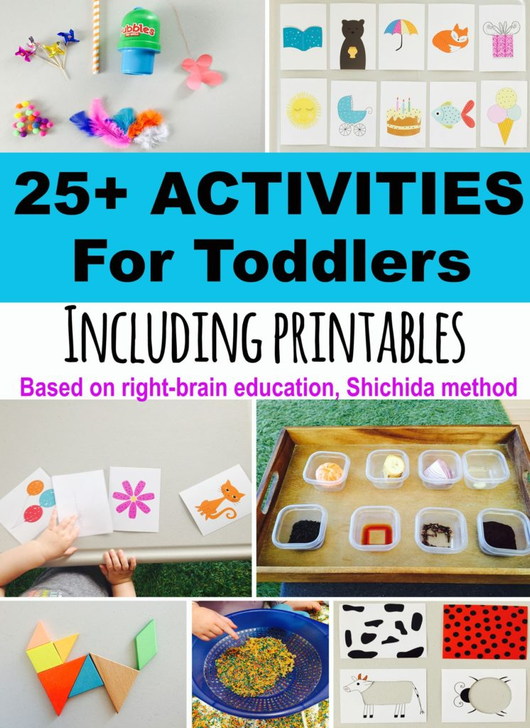 25+ toddler activities, free printables. development promoting toddler activities, activities for 20 month olds, activities for two year olds, activities for three year olds, toddler printables, activities for 21 month olds, activities for 22 month olds, shichida, memory game
