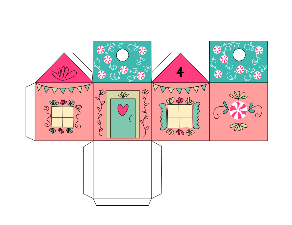 picture regarding Printable Advent Calendar identified as No cost Introduction Calendar Residences Printable record Chicklink
