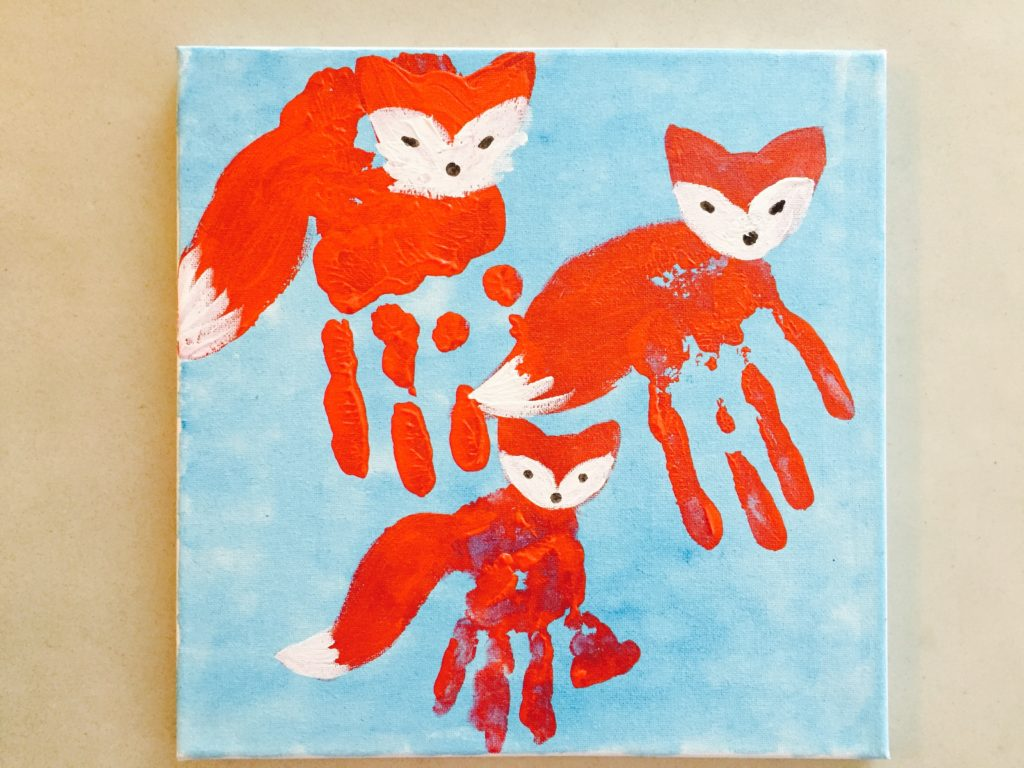 handprint fox craft 45 learning activities for 18 24 month olds toddler 2151
